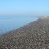 Beach at Kirksanton - high tide